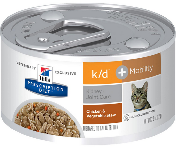 Hill's Prescription Diet - k/d + Mobility. Kidney & Joint Care Feline - Chicken & Vegetable Stew. - Southern Agriculture