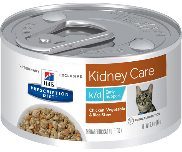 Hill's Prescription Diet - k/d. Kidney Care & Early Support Feline - Chicken, Vegetable & Rice Stew. - Southern Agriculture
