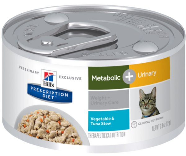 Hill's Prescription Diet - Metabolic + Urinary. Weight & Urinary Care Feline - Vegetable & Tuna Stew. - Southern Agriculture