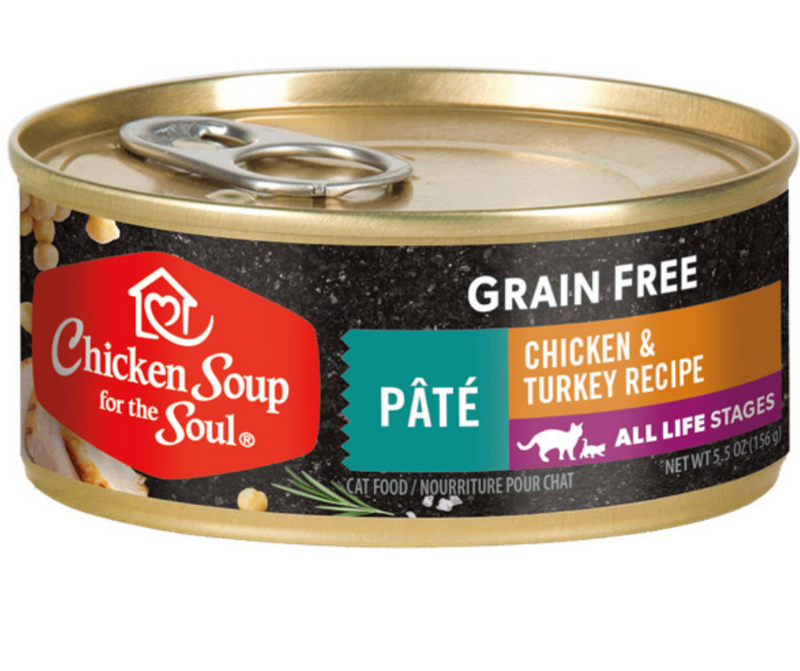 Chicken Soup for the Soul - All Cat Breeds, All Life Stages. Grain Free Chicken & Turkey Pâté Recipe. - Southern Agriculture
