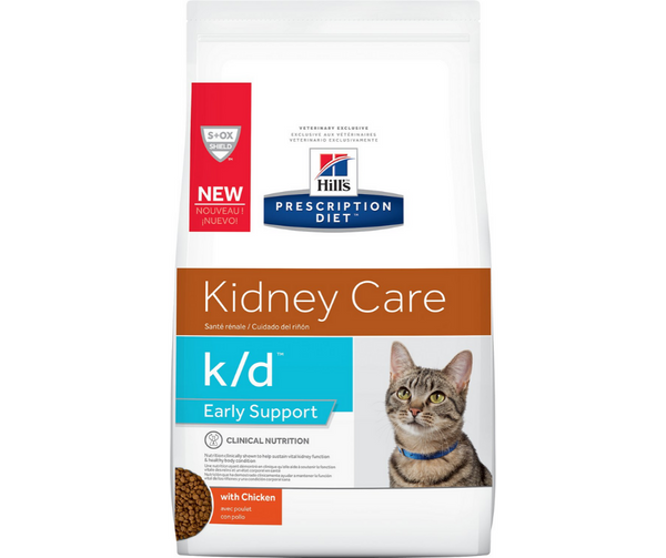 Hill's Prescription Diet - k/d. Kidney Care, Early Stage/Early Support Feline - Chicken. - Southern Agriculture