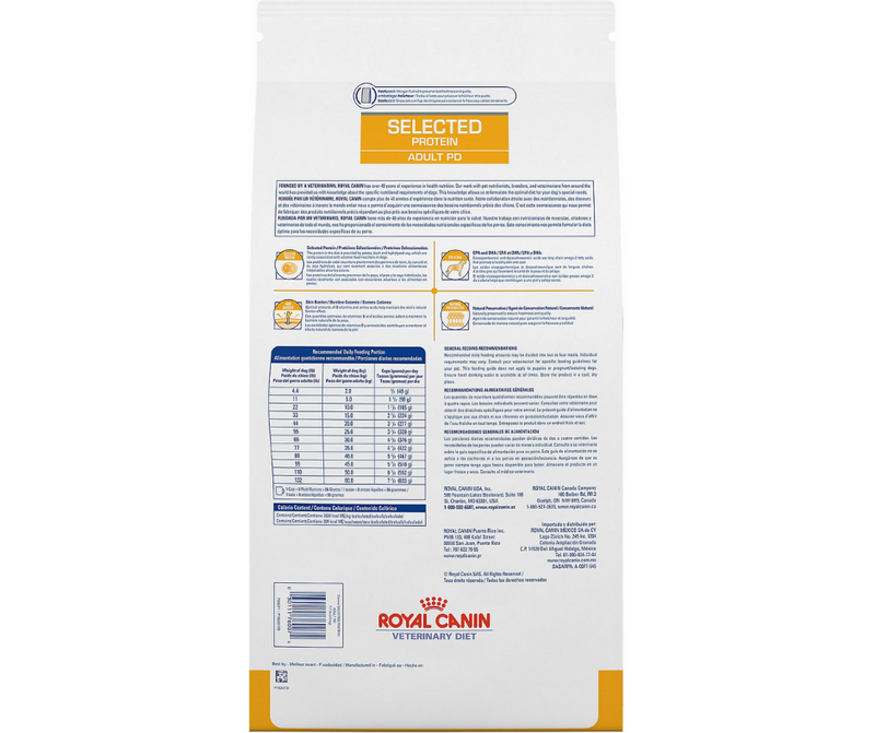Royal Canin Veterinary Diet - PD. Selected Protein Adult Formula. - Southern Agriculture