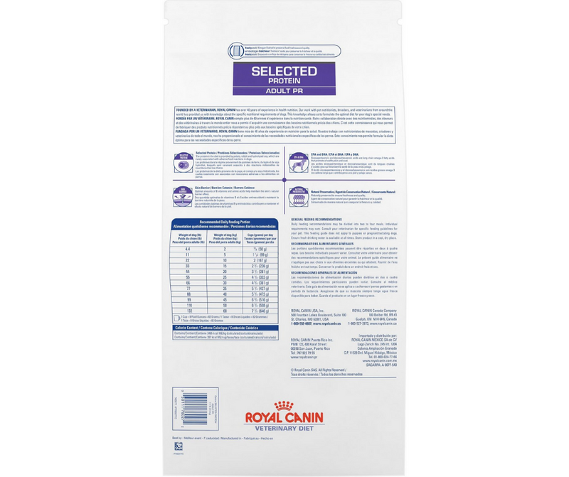 Royal Canin Veterinary Diet - PR. Selected Protein Adult Formula. - Southern Agriculture