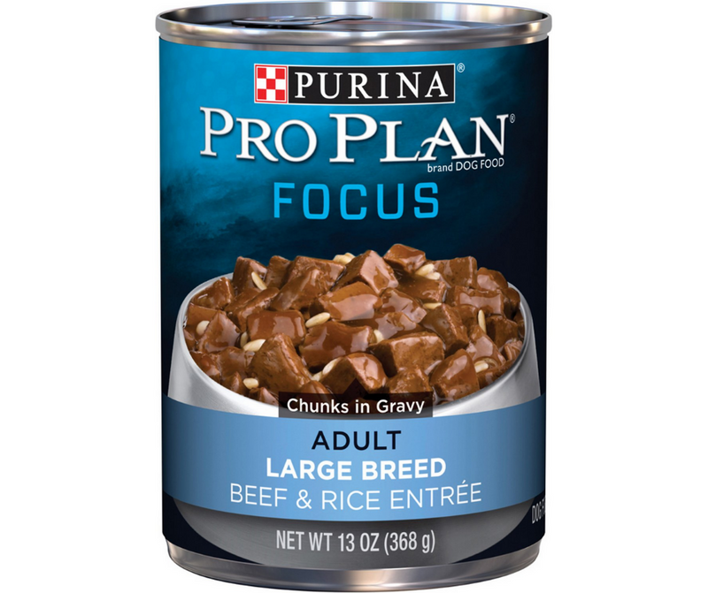 Purina Pro Plan Focus - Large Breed, Adult Dog. Beef & Rice Entree Chunks in Gravy. - Southern Agriculture