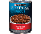 Purina Pro Plan Focus - All Breeds, Senior Dog 7+ Years Old. Beef & Rice Entree Morsels in Gravy. - Southern Agriculture