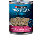 Purina Pro Plan Focus - All Breeds, Adult Dog. Classic Sensitive Skin & Stomach - Salmon & Rice Entree. - Southern Agriculture