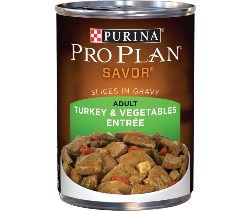Purina Pro Plan Savor - All Breeds, Adult Dog. Turkey & Vegetables Entree Slices in Gravy. - Southern Agriculture
