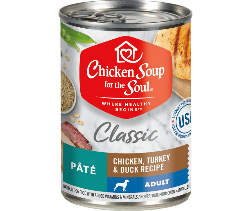 Chicken Soup for the Soul - All Breeds, Adult Dog. Pâté Chicken, Turkey & Duck Recipe. - Southern Agriculture