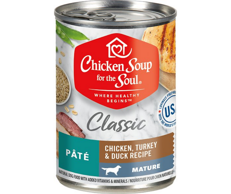 Chicken Soup for the Soul - All Breeds, Mature/Senior Dog. Chicken, Turkey & Duck Recipe. - Southern Agriculture