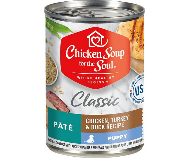 Chicken Soup for the Soul - All Breeds, Puppy. Pâté Chicken, Turkey & Duck Recipe. - Southern Agriculture