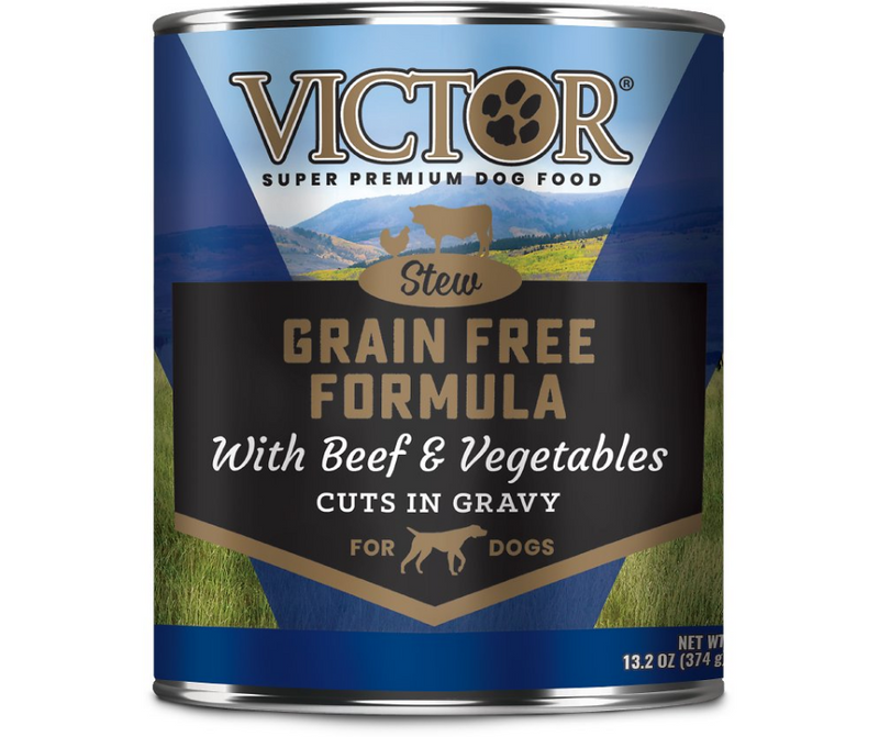 Victor - All Breeds, Adult Dog. Grain-Free Beef & Vegetables Stew Cuts in Gravy. - Southern Agriculture