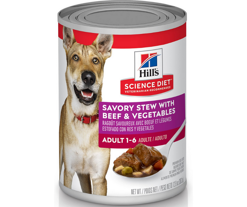 Hill's Science Diet - All Breeds, Adult Dog. Savory Stew with Beef & Vegetables. - Southern Agriculture