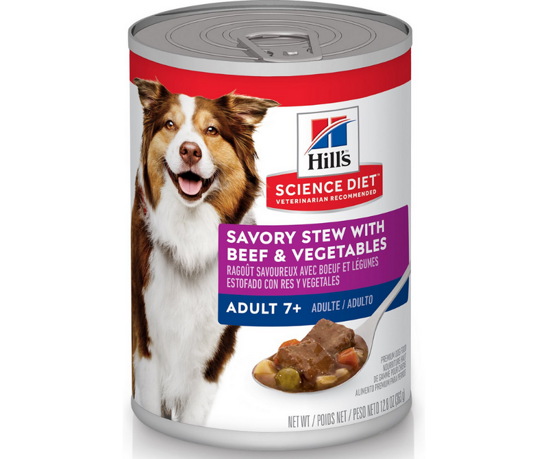 Hill's Science Diet - All Breeds, Adult Dog 7+ Years Old. Savory Stew with Beef & Vegetables. - Southern Agriculture