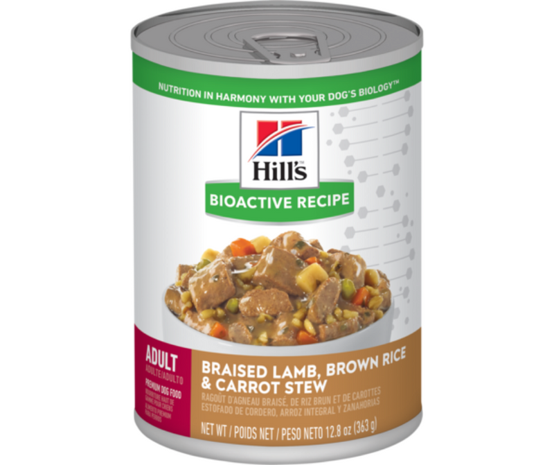 Hill's Bioactive Recipe - All Breeds, Adult Dog. Braised Lamb, Brown Rice & Carrot Stew. - Southern Agriculture