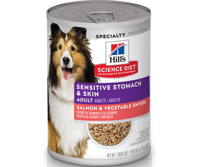Hill's Science Diet - All Breeds, Adult Dog. Sensitive Stomach & Skin - Grain Free Salmon & Vegetable Entrée. - Southern Agriculture