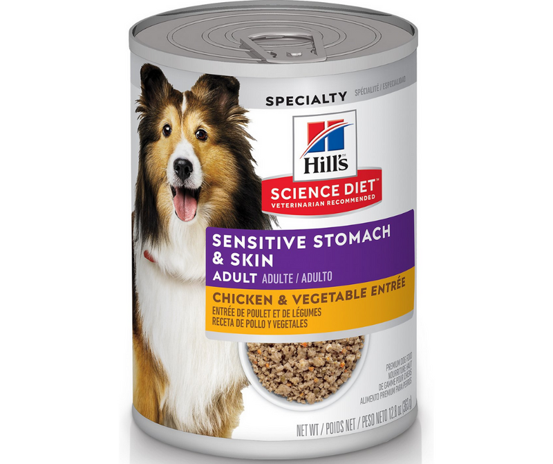 Hill's Science Diet - All Breeds, Adult Dog. Sensitive Stomach & Skin - Chicken & Vegetable Entrée. - Southern Agriculture