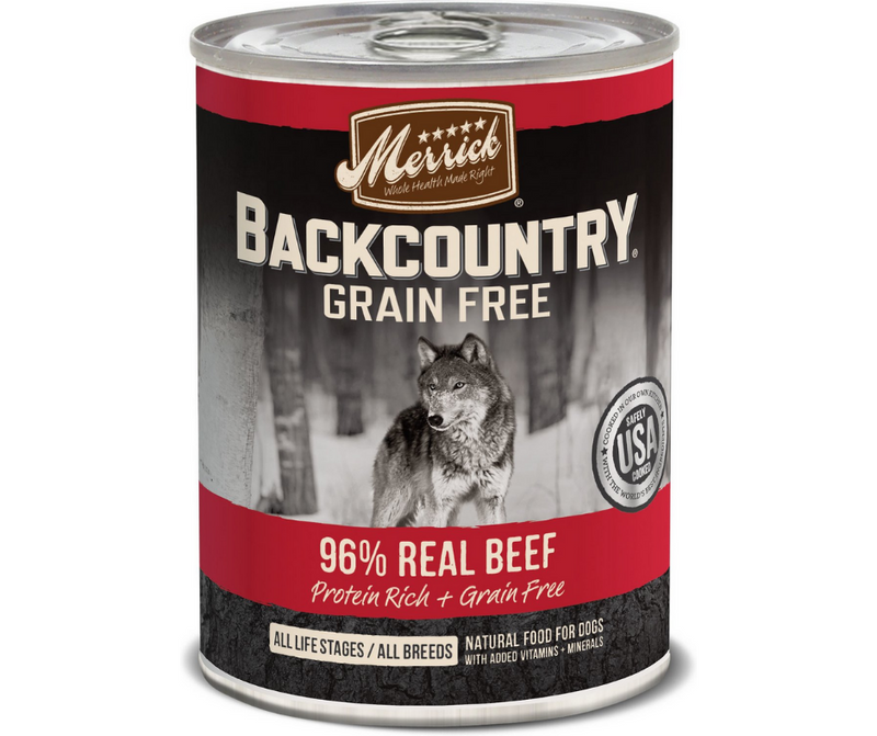 Merrick, Backcountry Grain Free - All Dog Breeds, All Life Stages. 96% Real Beef Recipe. - Southern Agriculture