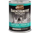 Merrick, Backcountry Grain Free - All Dog Breeds, All Life Stages. Hearty Duck & Venison Stew Recipe. - Southern Agriculture
