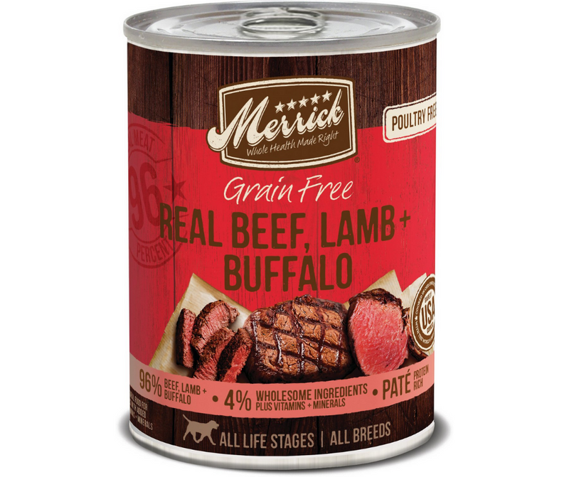 Merrick - All Dog Breeds, All Life Stages. Grain Free Real Beef, Lamb & Buffalo Recipe. - Southern Agriculture