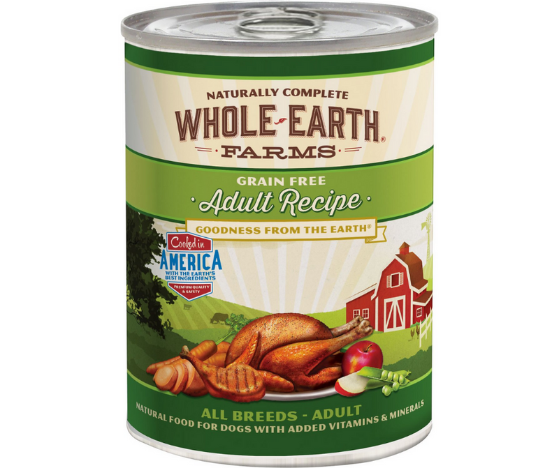 Whole Earth Farms - All Breeds, Adult Dog. Grain-Free Adult Recipe. - Southern Agriculture