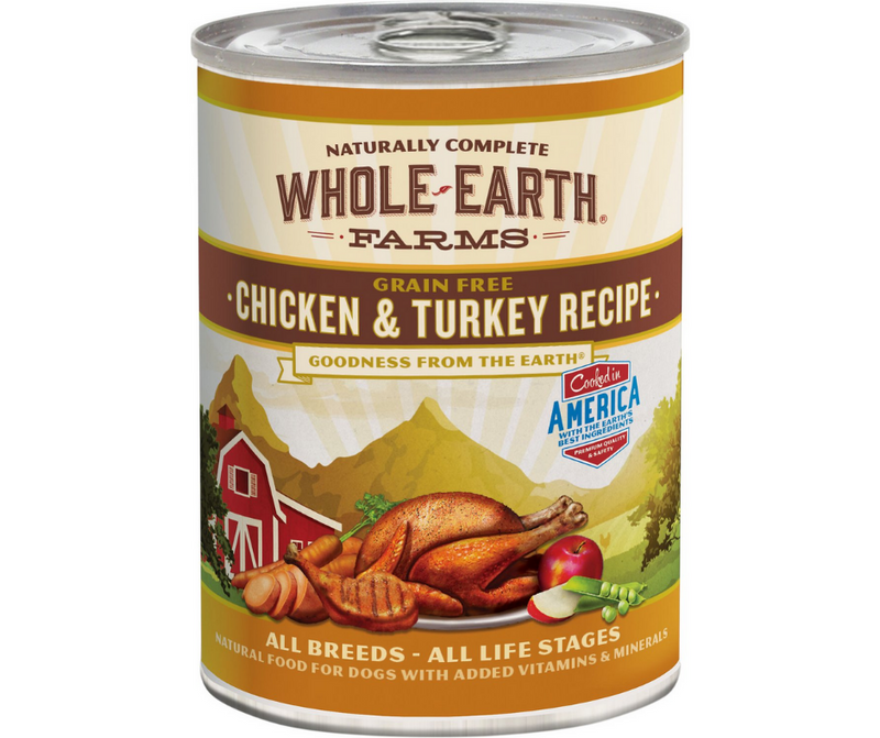 Whole Earth Farms - All Dog Breeds, All Life Stages. Grain-Free Chicken & Turkey Recipe. - Southern Agriculture