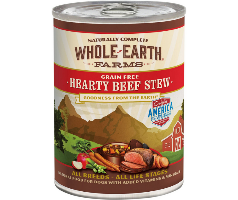 Whole Earth Farms - All Dog Breeds, All Life Stages. Grain-Free Hearty Beef Stew Recipe. - Southern Agriculture