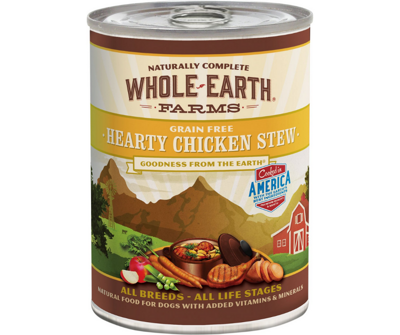 Whole Earth Farms - All Dog Breeds, All Life Stages. Grain-Free Hearty Chicken Stew Recipe. - Southern Agriculture