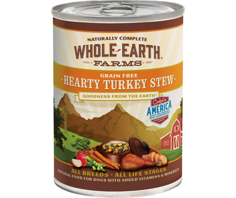 Whole Earth Farms - All Dog Breeds, All Life Stages. Grain-Free Hearty Turkey Stew Recipe. - Southern Agriculture