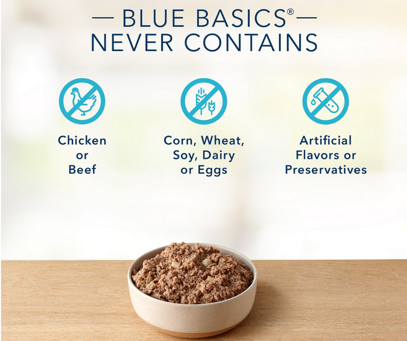 Blue Buffalo, Basics Limited Ingredient - All Breeds, Adult Dog. Grain-Free Turkey & Potato Recipe. - Southern Agriculture