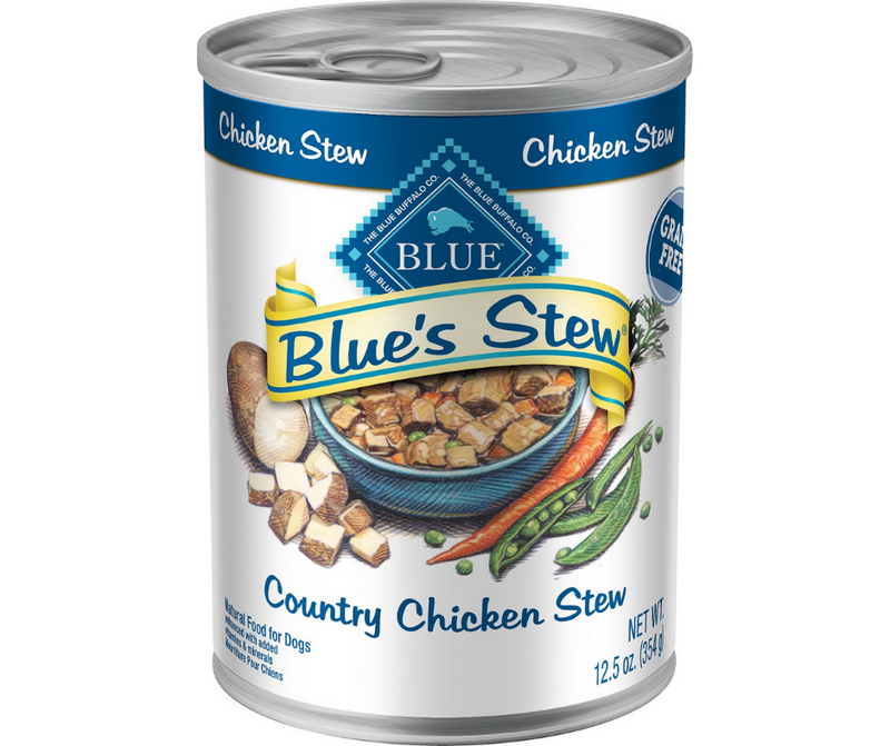 Blue Buffalo, Blue's Stew - All Breeds, Adult Dog. Grain Free Country Chicken Stew Recipe. - Southern Agriculture