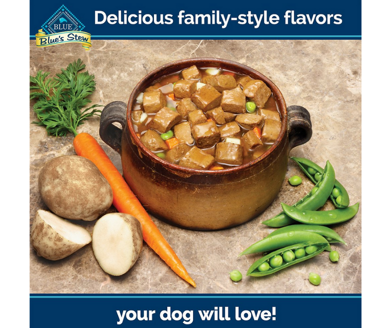 Blue Buffalo, Blue's Stew - All Breeds, Adult Dog. Grain Free Hearty Beef Stew Recipe. - Southern Agriculture