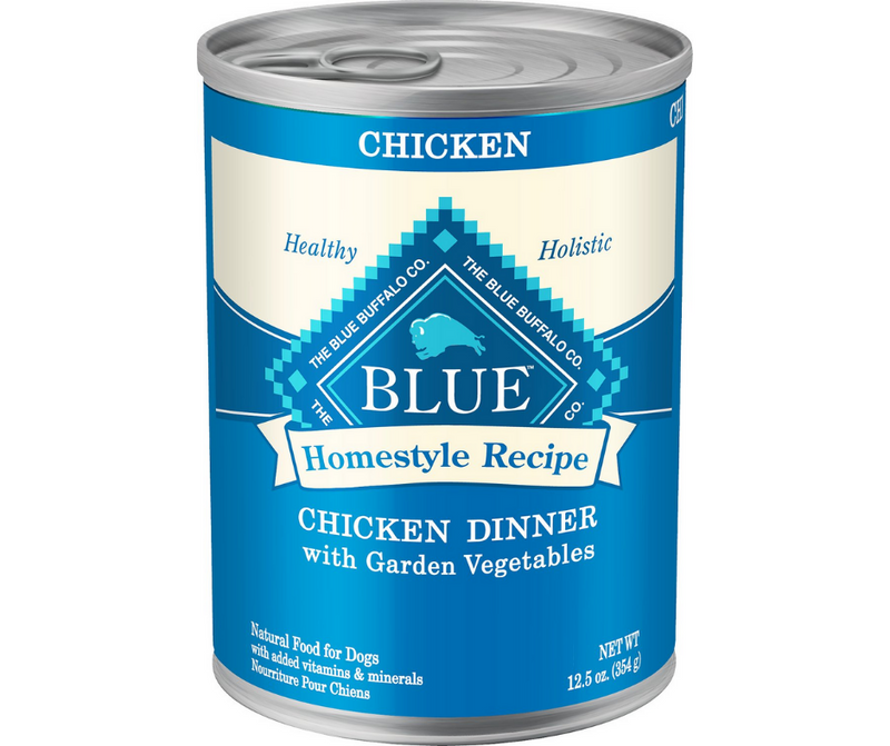 Blue Buffalo, Homestyle Recipe - All Breeds, Adult Dog. Chicken Dinner with Garden Vegetables & Brown Rice. - Southern Agriculture