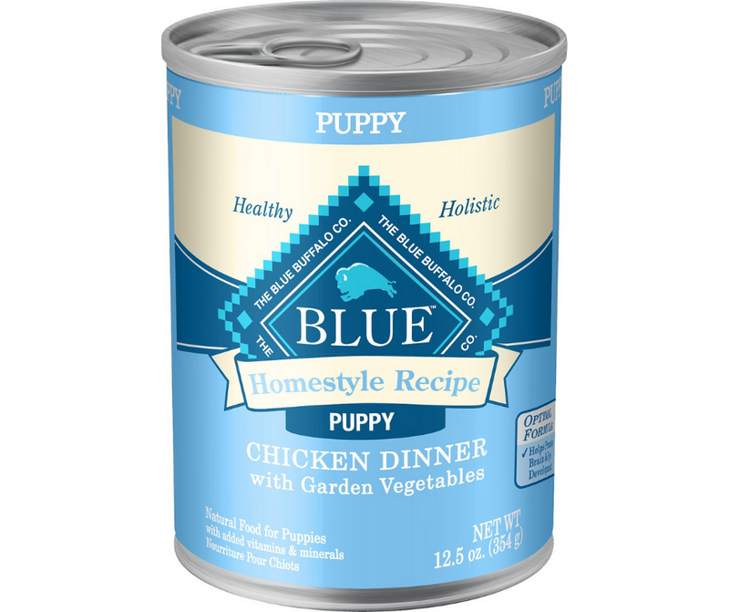 Blue Buffalo, Homestyle Recipe - All Breeds, Puppy. Chicken Dinner with Garden Vegetables. - Southern Agriculture