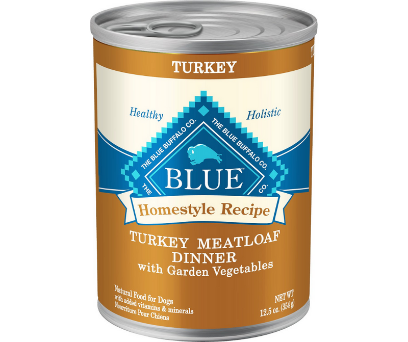 Blue Buffalo, Homestyle Recipe - All Breeds, Adult Dog. Turkey Meatloaf Dinner with Garden Vegetables. - Southern Agriculture