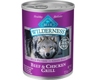 Blue Buffalo, Wilderness - All Breeds, Adult Dog. Grain-Free Beef & Chicken Grill Recipe. - Southern Agriculture