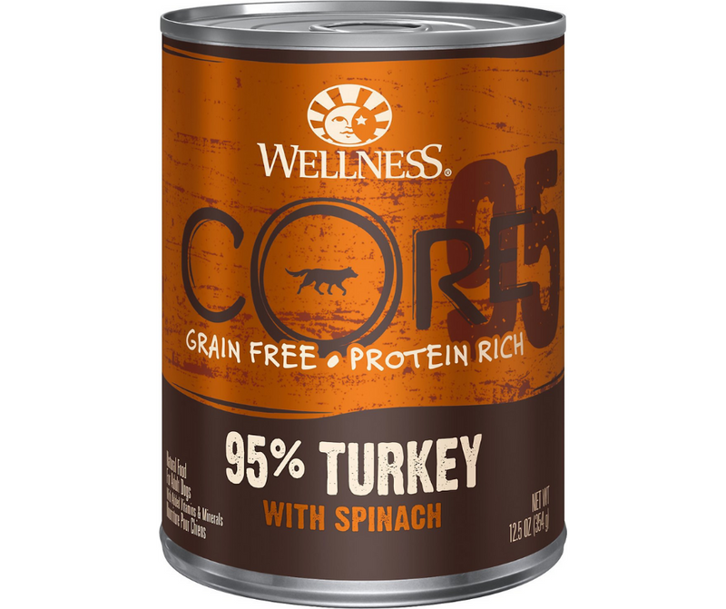 Wellness, CORE - All Breeds, Adult Dog. 95% Grain-Free Turkey & Spinach Recipe. - Southern Agriculture