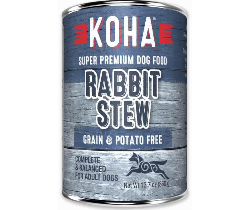 KOHA, Minimal Ingredient - All Breeds, Adult Dog. Rabbit Stew Recipe. - Southern Agriculture