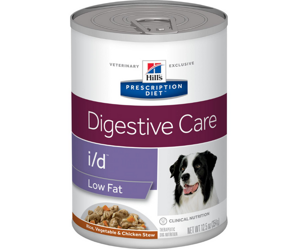 Hill's Prescription Diet - i/d. Digestive Care,  Low Fat - Rice, Vegetable & Chicken Stew Formula. - Southern Agriculture