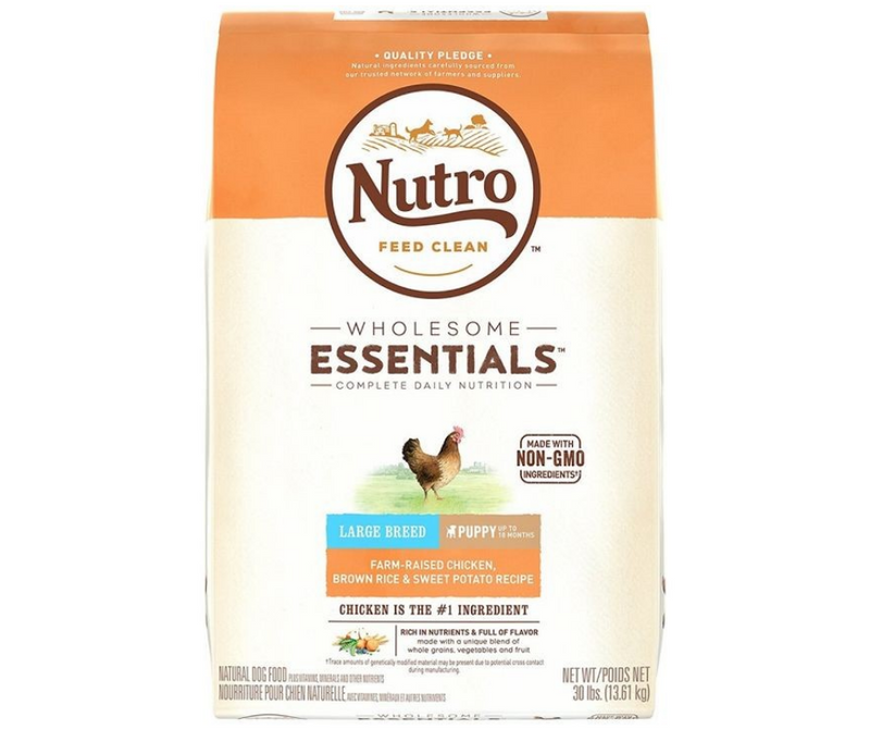 Nutro Wholesome Essentials - Large Breed, Puppy. Farm-Raised Chicken, Brown Rice, and Sweet Potato Recipe - Southern Agriculture