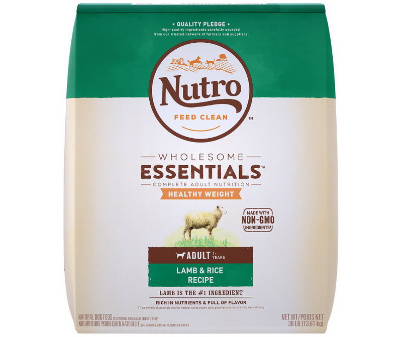 Nutro Wholesome Essentials - Healthy Weight, Adult Dog. Pasture-Fed Lamb and Rice Recipe - Southern Agriculture