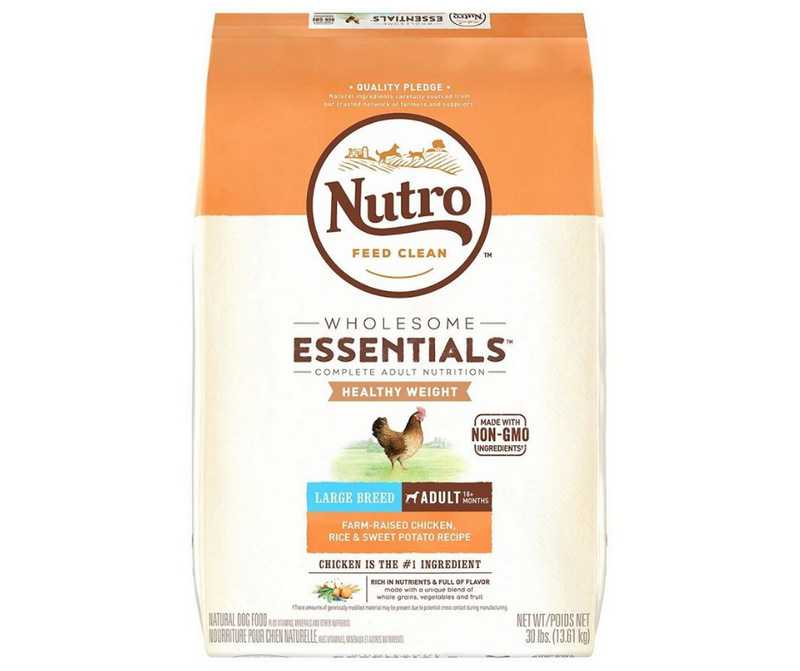 Nutro Wholesome Essentials - Healthy Weight Large Breed, Adult Dog. Farm-Raised Chicken, Rice and Sweet Potato Recipe - Southern Agriculture