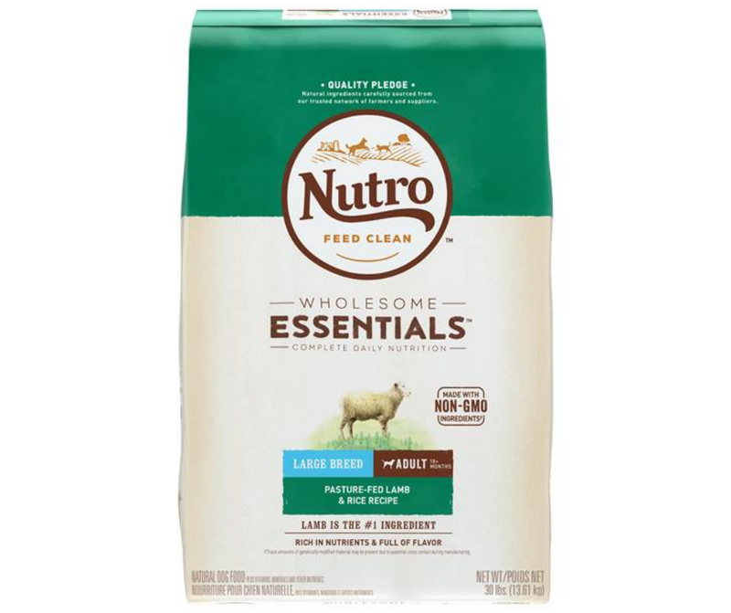 Nutro Wholesome Essentials - Large Breed, Adult Dog. Pasture-Fed Lamb and Rice Recipe - Southern Agriculture