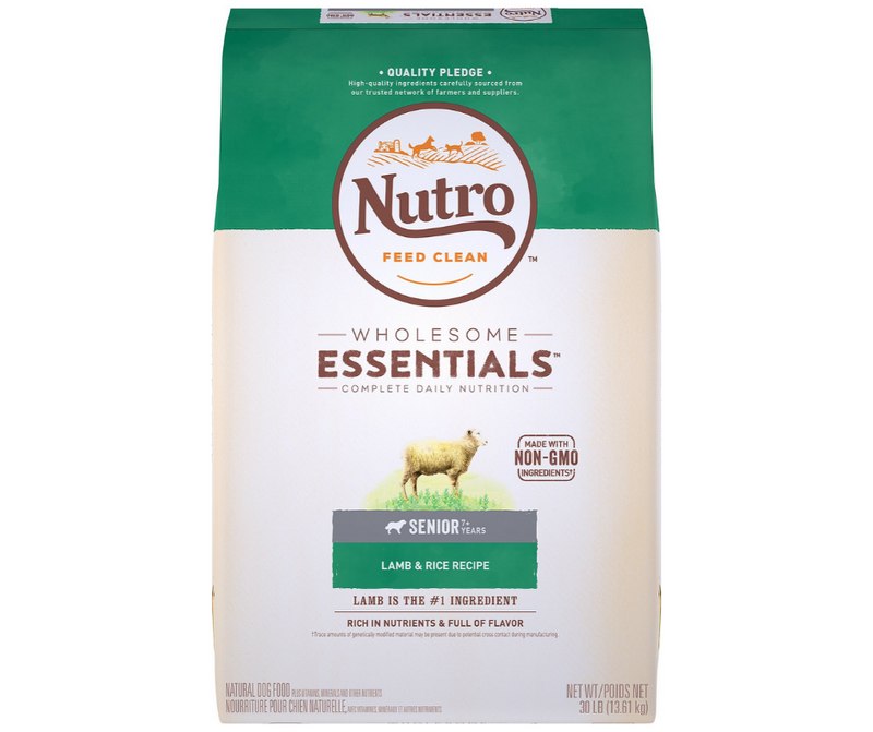 Nutro Wholesome Essentials - All Breeds, Senior Dog. Pasture-Fed Lamb and Rice Recipe - Southern Agriculture