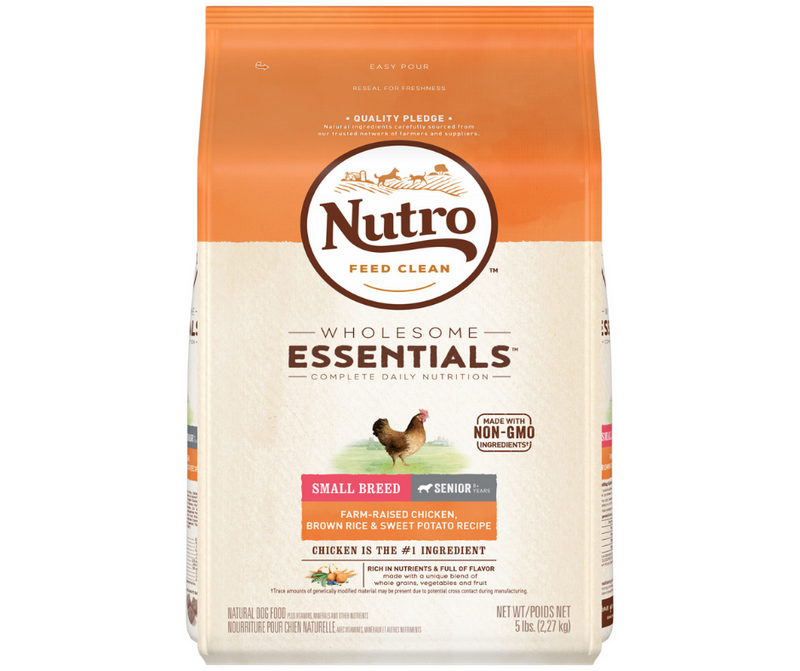 Nutro Wholesome Essentials - Small Breed, Senior Dog. Farm-Raised Chicken, Brown Rice, and Sweet Potato Recipe - Southern Agriculture