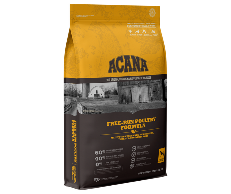Champion Petfoods Acana - All Dog Breeds, All Life Stages. Free-Run Poultry Recipe - Southern Agriculture