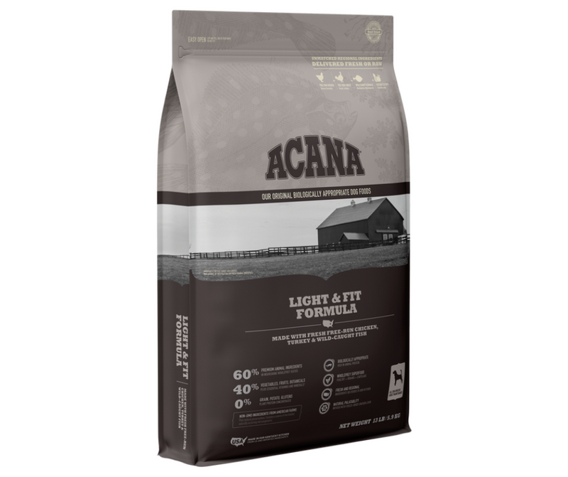 Champion Petfoods Acana - All Breeds, Adult Dog. Light & Fit Formula - Southern Agriculture