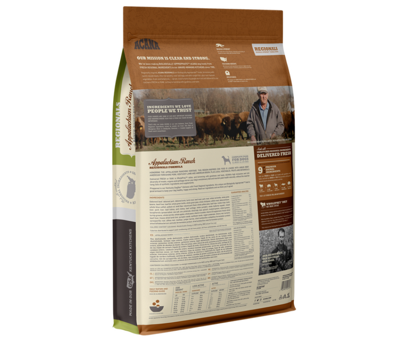 Champion Petfoods Acana - All Dog Breeds, All Life Stages. Appalachian Ranch Recipe - Southern Agriculture