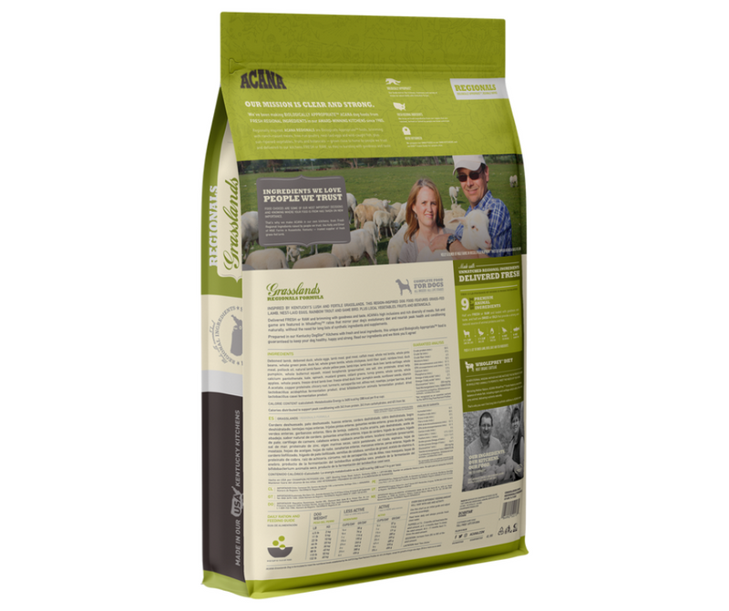 Champion Petfoods Acana - All Dog Breeds, All Life Stages. Grasslands Recipe - Southern Agriculture