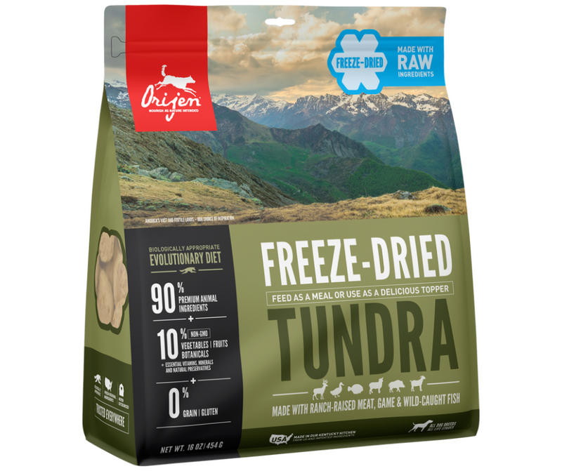 Champion Petfoods Orijen - All Breeds, Adult Dog. Freeze-Dried Tundra Recipe - Southern Agriculture