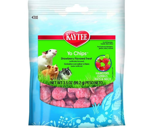 Kaytee Fiesta Yo Chips Strawberry for Hamsters, Gerbils, Mice, and Rats